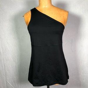 Lululemon one shoulder black tank top